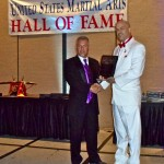 "Sifu Mike receiving his ""Silver Life Award"" for 30 years in the martial arts"